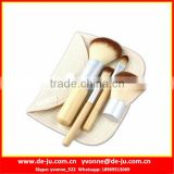 Small Size Short Oval Makeup Brush Set