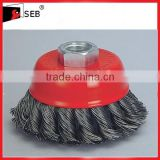 "3"" Twisted Knot Steel Wire Cup Brushes"
