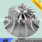 abrasion resistance alloy steel lost wax precision casting cnc machining for water pump unshrouded impeller LYE