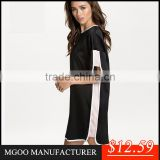 MGOO New Summer Sport Gym White Black Loose Pencil Split Dresses For Women China Dresses Cheap Price Workout Dresses