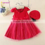 Autumn winter girls frock design good quality woolen party dress for kids girls beautiful clothing