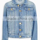 New fashion design boys blue jean jackets stylish kids denim coats