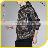 Men's Digital Printed Camo jacket zipper pulls 100% polyester light weight waterproof windbreaker jacket custom made