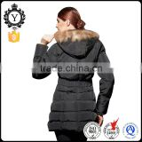 COUTUDI wholesale women black real fur hooded ultra light quilted down parka jacket for the winter