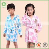 Kids Plush Printing Home Bathrobe