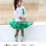 Summer Children ball gown toddler Girls t-shirt top skirts set Ballet pettiskirt tutu suit