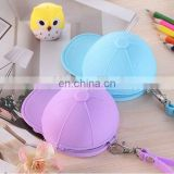 Non-toxic Waterproof Silicone Material Zipper Top Coins and Key Purse Baseball Hat Design