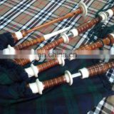 Scottish Highland Traditional Mount Bagpipe with Tartan Cover