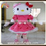 Lovely hello kitty mascot costume, fur figure fancy dress costume for adult