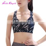 Comfortable Criss Cross Double Straps Pattern Sport Sexy Bra