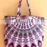 Mandala Hand bag Tapestry bag Girls tote bag Indian NEW ARRIVAL VINTAGE mandala hobo bag cotton purse luggage carry at wholesale