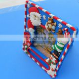 Christmas day gift snowman pvc picture frame Santa Claus photo frame