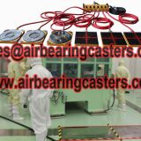 Air bearing and caster features and benefits