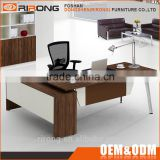 Modern home office furniture desk leather melamine wooden executive office counter desk with file cabinet