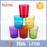 promotional soft drinking glass cup/colourful glass/drinking glassware                                                                         Quality Choice