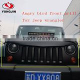 Front Black Angry eye Grille Grid Birds Grill for jeep wrangler