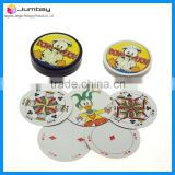 Round Custom Paper Playing Cards Game in Round Plastic Box                                                                         Quality Choice