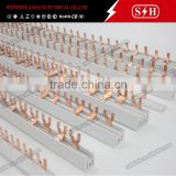 Terminal Block Connector Copper Busbar with U or Fork type for 1 p mcb