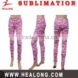 hot sale custom polyester spandex sublimated women yoga pants
