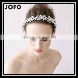 T & H Series Handmade Beaded Rhinestone Flower Wedding Headband Hair Jewelry Hair Accessories