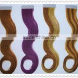fashional 2013 hot sell high quality tape hair extensions body wave