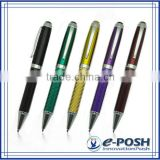 Calligraphy carbon fiber racing car material business logo gift metal signing ballpoint pen set