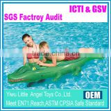 EN71 6P PVC inflatable crocodile animal rider