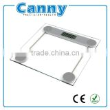 2015 new electronic digital personal bathroom weight scale 6mm glass platform cheap price