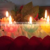 Multi-Colored Handmade Art Candle/Handmade Lotus Candle/Flower Candles For Home Decoration