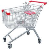 Hot selling metal small supermarket shopping trolley with high quality,supermarket shopping trolley