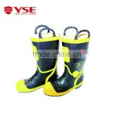 Fire proof rubber fire shoes with steel toe,fire fighting safety shoes