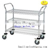 "18"" Deep x 30"" Wide x 42"" High 3 Shelf All Wire Medium Duty Cart Popular for warehouses, food service, offices, hospitals"