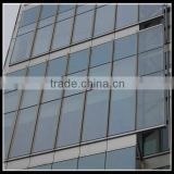 Unitized glass curtain wall for business building