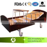 Turning Table Wooden Batten Manual Hospital Bed , Medical Adjustable Beds