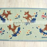 lovely floor mat deer design cotton/polyester jacquard rug with anti-slipping back floor mat