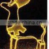 lighted peace sign LED magic colour christmas lights for outdoor project/LED 3D motif christmas deer snowman