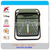 Outdoor Portable Picnic Backpack, Cooler Pack with LED light and Reflective Strip Warning Words Chair
