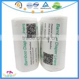 100 sheets/roll Biodegradable Diaper Liners, bamboo Fabric Flushable Nappy Liners,Comfortable Cloth Baby Diaper Liners