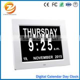"Traditional design 8"" LED digital calendar day clock for dementia elderly seniors"