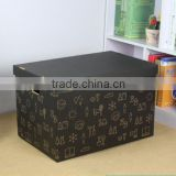 Attractive and durable B-flute material hot-selling design of foldable storing packing box