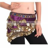 2016 Wholesale Sexy Belly Dance Hip Belt Scarf Cheap Belly Dancing Tribal Waist Scarves Various Colors