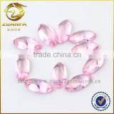 Zuanfa Gems pink marquise cut glass stones for jewelry, machine cut glass stones colored glass stones