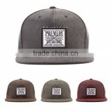[P506-P509] WAX coating cap cotton PREMIER weaving LABEL applique snapback cap