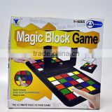 Educational game magic block plastic slide puzzle