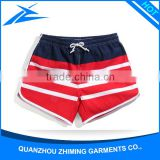 Fashion Stripes Pattern Stylish Wholesale Surf Wear Men Polyester Shorts Pants With Custom Logos
