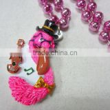 Wholesale Mardi Gras Beads Necklace Plastic MOT Beads