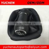 Factory Wholesales YUCHEN Car Shift Gear Knob Gear Handle 5 Speed For VW Golf IV 4 classic carbon fiber car parts
