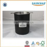China manufacture high quality delicate design large size red wine/ beer ice bucket with pu/genuine leather outside