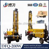 DFQ-200W Portable Water Well Drill Rigs DTH down the hole hammer portable water drilling machine prices