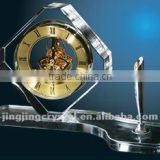Crystal Glass table clock with pen holder for Office Gift                                                                         Quality Choice                                                     Most Popular